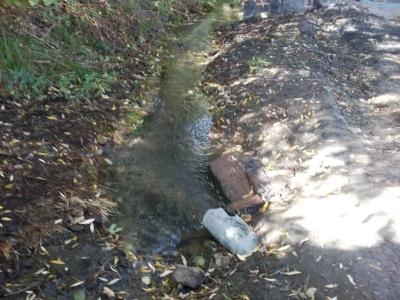 Čistenie územia a potoka pod estakádou